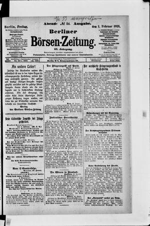 Berliner Börsen-Zeitung vom 01.02.1918