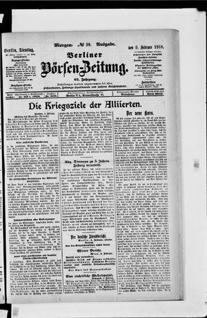 Berliner Börsen-Zeitung vom 05.02.1918