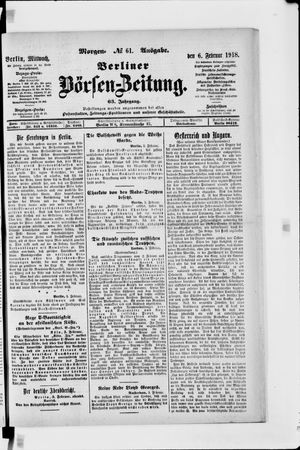 Berliner Börsen-Zeitung vom 06.02.1918