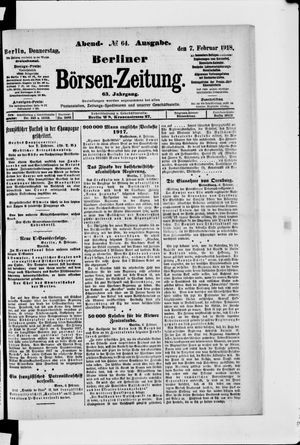 Berliner Börsen-Zeitung vom 07.02.1918