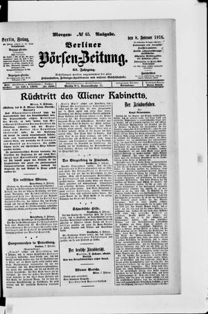 Berliner Börsen-Zeitung vom 08.02.1918