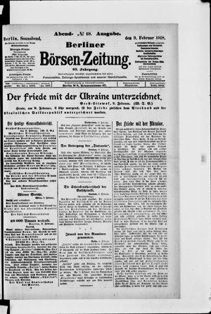 Berliner Börsen-Zeitung vom 09.02.1918