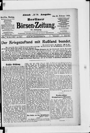 Berliner Börsen-Zeitung vom 11.02.1918