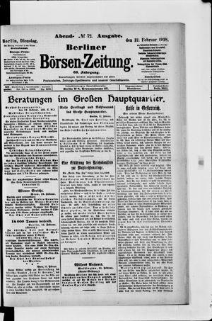Berliner Börsen-Zeitung vom 12.02.1918