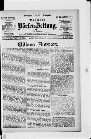 Berliner Börsen-Zeitung vom 13.02.1918