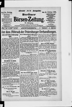 Berliner Börsen-Zeitung vom 15.02.1918