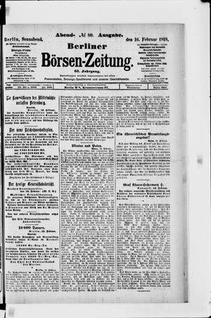 Berliner Börsen-Zeitung vom 16.02.1918