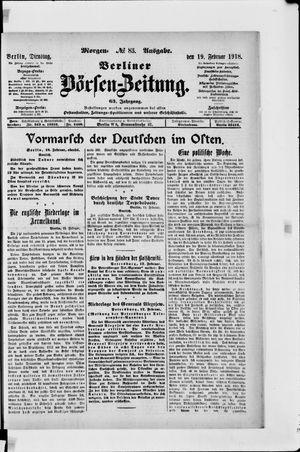 Berliner Börsen-Zeitung vom 19.02.1918