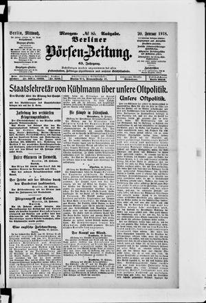 Berliner Börsen-Zeitung vom 20.02.1918