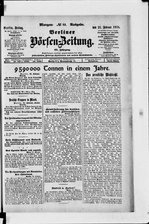 Berliner Börsen-Zeitung vom 22.02.1918