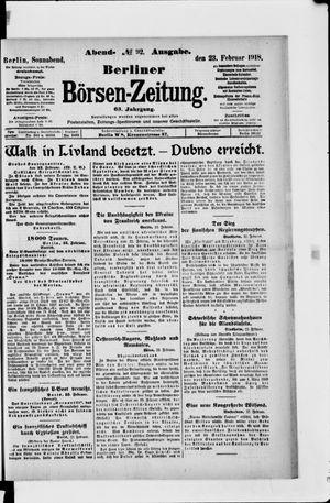 Berliner Börsen-Zeitung vom 23.02.1918