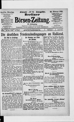 Berliner Börsen-Zeitung vom 26.02.1918