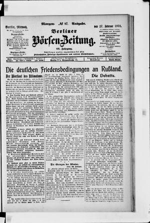 Berliner Börsen-Zeitung vom 27.02.1918