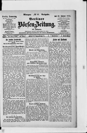 Berliner Börsen-Zeitung vom 28.02.1918