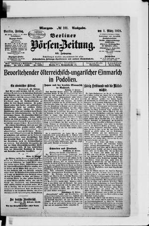 Berliner Börsen-Zeitung vom 01.03.1918
