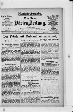 Berliner Börsen-Zeitung vom 04.03.1918