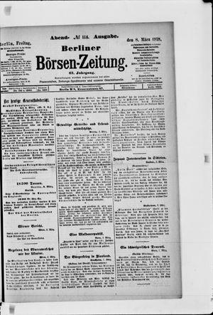 Berliner Börsen-Zeitung vom 08.03.1918