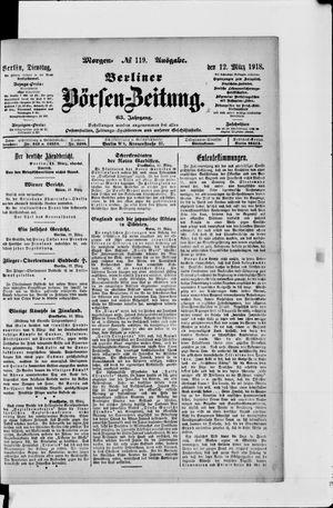 Berliner Börsen-Zeitung vom 12.03.1918