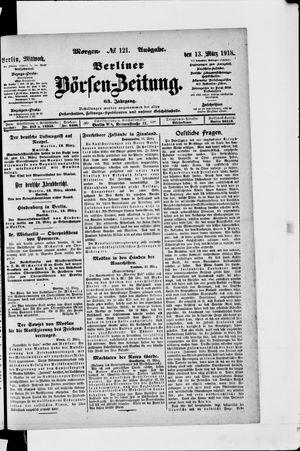 Berliner Börsen-Zeitung vom 13.03.1918