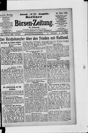 Berliner Börsen-Zeitung vom 18.03.1918