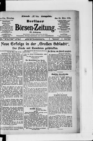 Berliner Börsen-Zeitung vom 26.03.1918