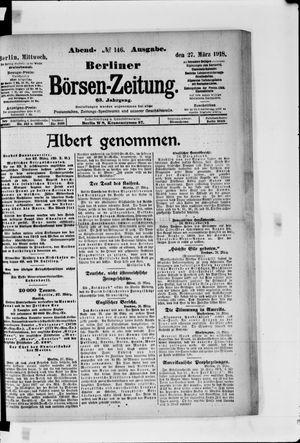 Berliner Börsen-Zeitung vom 27.03.1918