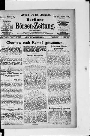 Berliner Börsen-Zeitung vom 10.04.1918