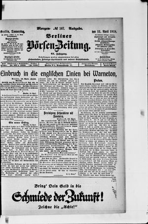 Berliner Börsen-Zeitung vom 11.04.1918