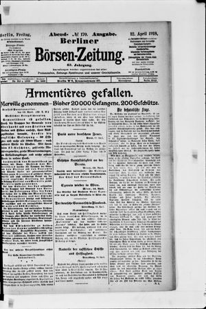 Berliner Börsen-Zeitung vom 12.04.1918