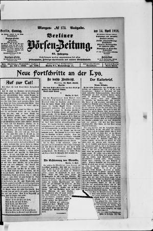 Berliner Börsen-Zeitung vom 14.04.1918