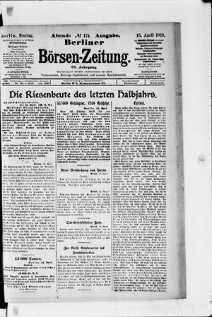 Berliner Börsen-Zeitung vom 15.04.1918