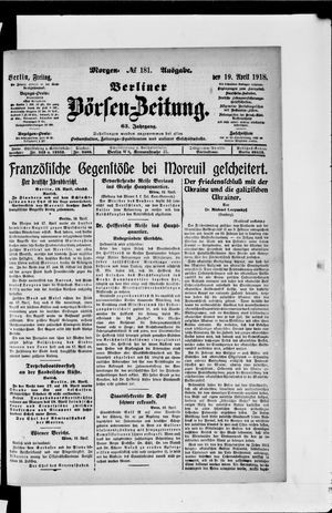 Berliner Börsen-Zeitung vom 19.04.1918