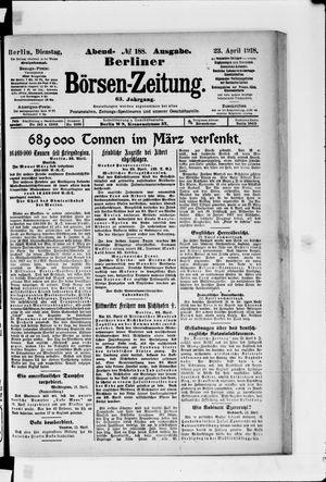 Berliner Börsen-Zeitung vom 23.04.1918