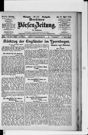 Berliner Börsen-Zeitung vom 28.04.1918