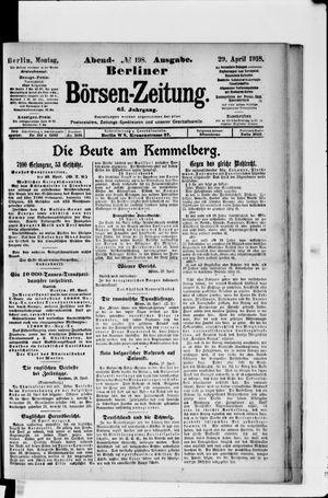 Berliner Börsen-Zeitung vom 29.04.1918