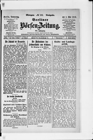 Berliner Börsen-Zeitung vom 02.05.1918