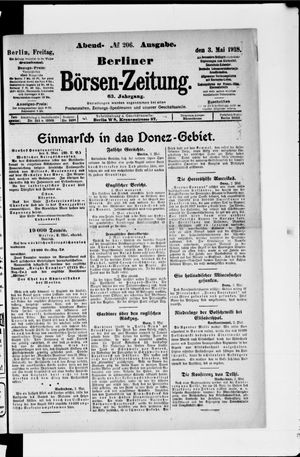 Berliner Börsen-Zeitung vom 03.05.1918