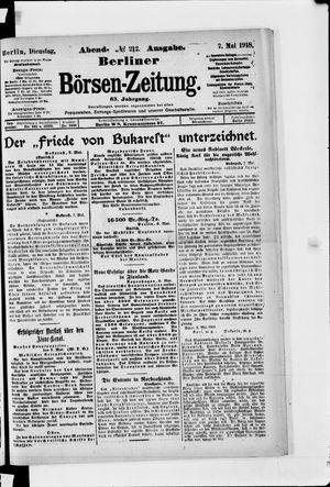 Berliner Börsen-Zeitung on May 7, 1918