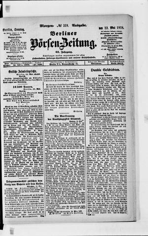 Berliner Börsen-Zeitung vom 12.05.1918