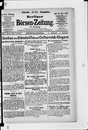 Berliner Börsen-Zeitung vom 13.05.1918