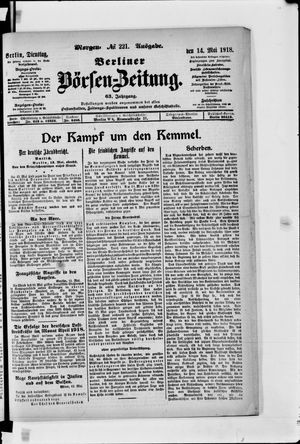 Berliner Börsen-Zeitung vom 14.05.1918