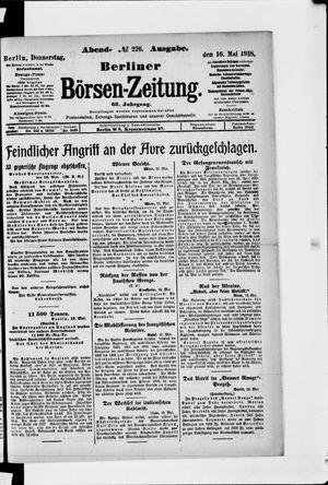 Berliner Börsen-Zeitung on May 16, 1918