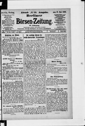 Berliner Börsen-Zeitung vom 17.05.1918