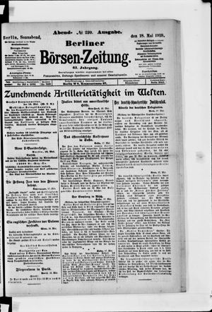 Berliner Börsen-Zeitung vom 18.05.1918