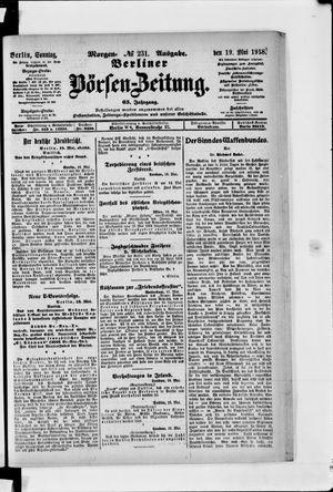 Berliner Börsen-Zeitung vom 19.05.1918