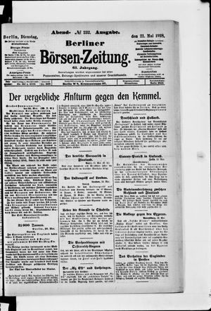 Berliner Börsen-Zeitung vom 21.05.1918
