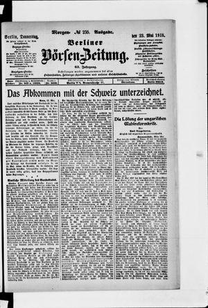 Berliner Börsen-Zeitung vom 23.05.1918
