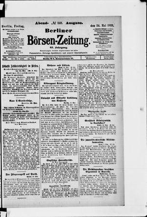 Berliner Börsen-Zeitung on May 24, 1918