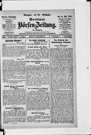Berliner Börsen-Zeitung vom 25.05.1918