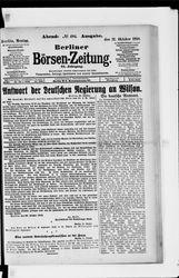 Berliner Börsen-Zeitung (21.10.1918)